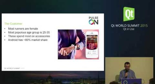 Wearable Sensor Platforms using Qt in the Medical and Sports Fitness Industry, PulseOn