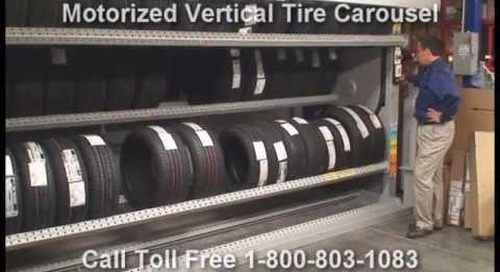 Motorized Tire Vertical Carousels | Rotating Tire Storage Machines