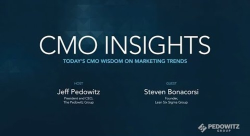 CMO Insights: Steven Bonacorsi, President of International Standard for Lean Six Sigma