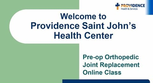 Saint John's Pre-op Orthopedic Joint Replacement Class
