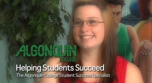 Helping Students Succeed -- The Algonquin College Student Success Specialist