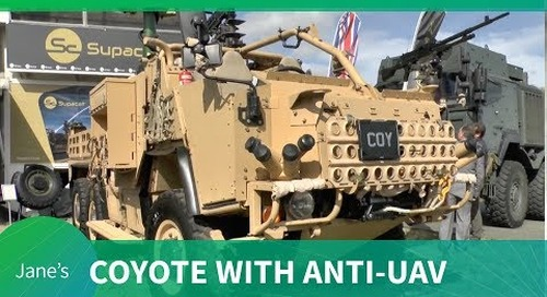 Supacat's HMT 600 Coyote with AUDS (Anti-UAV Defence System) - (DVD 2018)