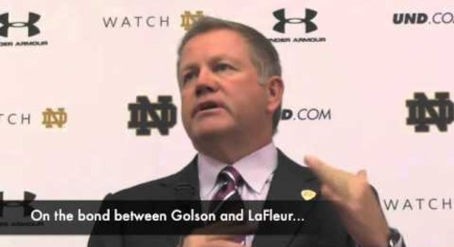 Notre Dame's Brian Kelly vs. Purdue - 9/9/14
