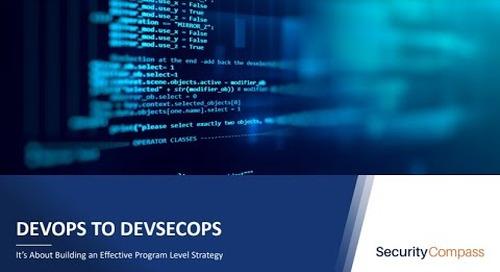 Webinar: From DevOps to DevSecOps: It's about building an effective program level strategy.