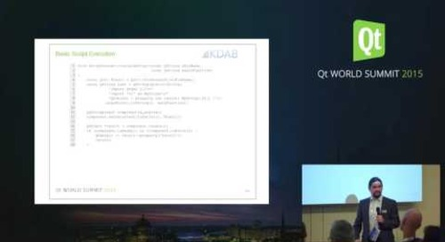 QtWS15- When all goes according to script Qt application development, Kevin Krammer, KDAB