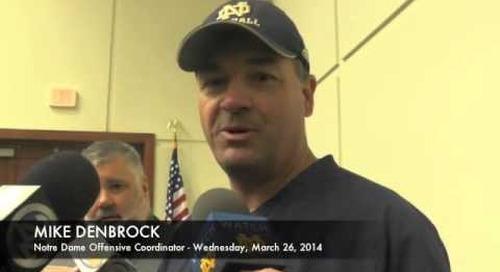 Notre Dame OC Mike Denbrock Address The Media
