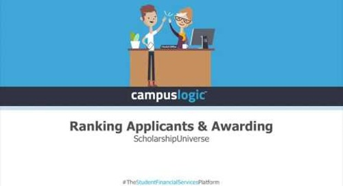 ScholarshipUniverse | Ranking Applicants & Awarding