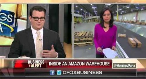 Navigating an Amazon fulfillment center's 14 miles of conveyor belts