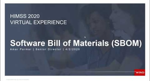 Medical Demo: Cybersecurity Bill of Materials
