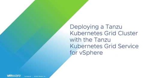 Dissecting a Tanzu Kubernetes Cluster Spec with the TKG Service for vSphere