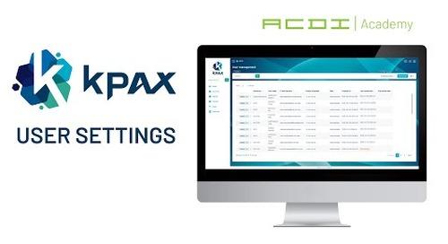 KPAX Training | User Settings