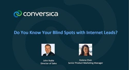Webinar: Do You Know Your Blind Spots With Internet Leads