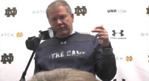 Brian Kelly Post-Navy
