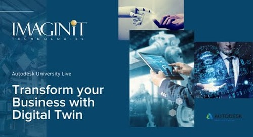 Autodesk University Live - Transform Your Business with Digital Twins