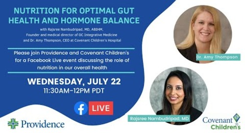 Nutrition for optimal gut health and hormone balance