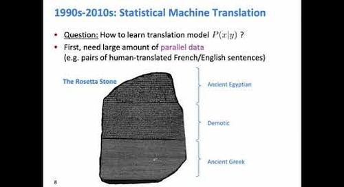 Stanford CS224N: NLP with Deep Learning | Winter 2019 | Lecture 8 – Translation, Seq2Seq, Attention