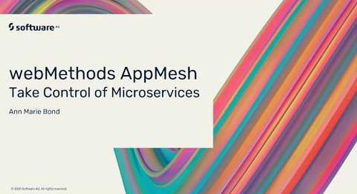 Why You Need webMethods AppMesh for Microservices