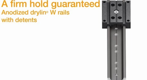 Drylin stopmotion adjustable guides