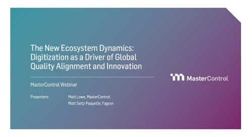 The New Ecosystem Dynamics: Digitization as a Driver of Global Quality Alignment and Innovation.