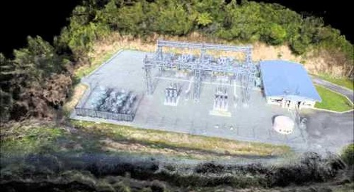 Greymouth Substation UAV aerial survey and 3D point cloud