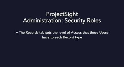 ProjectSight - Security Roles