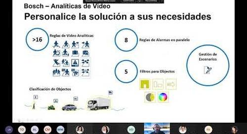 Summit para usuarios finales de Genetec y Bosch - Analíticas e inteligencia de negocios