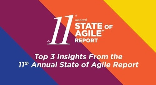 Video: Top 3 Insights from 11th Annual State of Agile Report