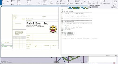 Images in Templates with Tekla Structures