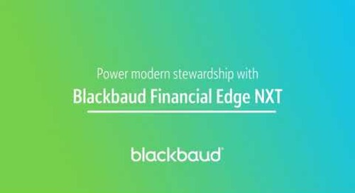 Blackbaud Financial Edge NXT In a Flash: Stewardship