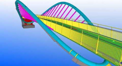 Tekla UK BIM Awards 2012: St Helens footbridge