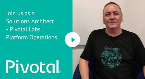 APJ - Join us as a Solutions Architect - Pivotal Labs, Platform Operations
