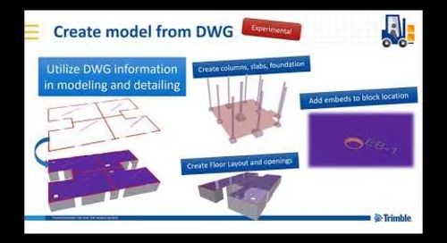 Create model from DWG - extension in Tekla Warehouse