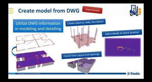 Create model from DWG - extension in Tekla Warehouse