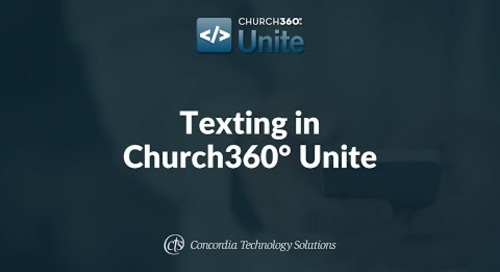 Texting in Church360° Unite