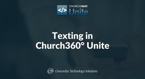 Texting in Church360° Unite