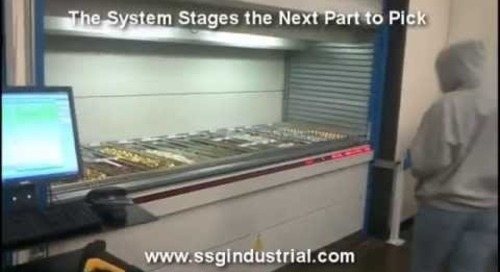 Parts & Kitting Batch Picking Accuracy & Productivity with Vertical Lift Module Storage Machines