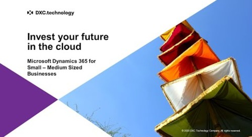 Invest your future in the cloud - Dynamics GP migration