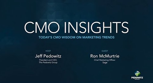CMO Insights: Ron McMurtrie, Chief Marketing Officer, Sage