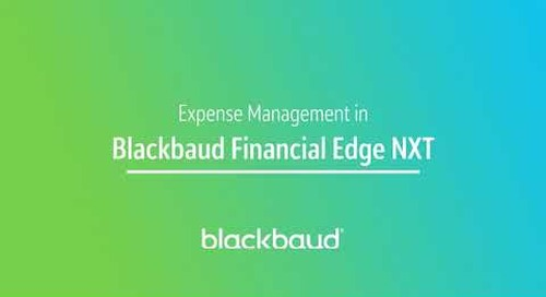 Blackbaud Financial Edge NXT In a Flash: Expense Management