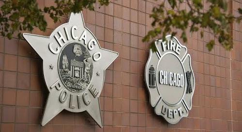 El camino a Citigraf con la policía de Chicago