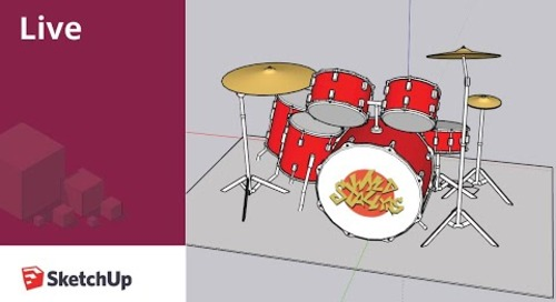 Modeling a Drum Kit in SketchUp Live