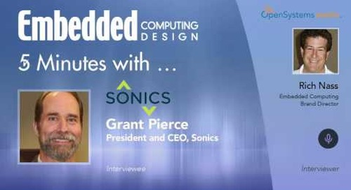 Five Minutes With…Grant Pierce, President and CEO, Sonics