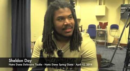 Sheldon Day Talks After Notre Dame Spring Game