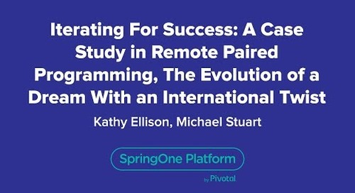 Iterating for Success: A Case Study in Remote Paired Programming