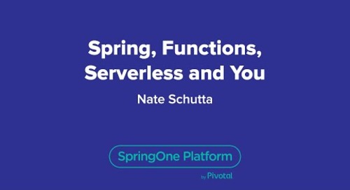 Spring, Functions, Serverless and You