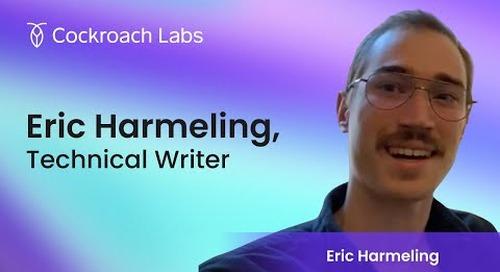 Roacher of the Week:  Eric Harmeling, Technical Writer