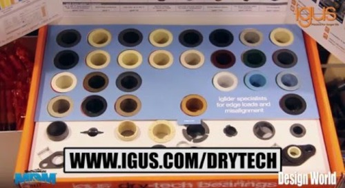 Introduction to the igus dry-tech Bearings box at MD&M West