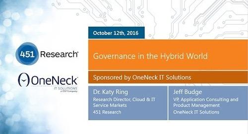 OneNeck 451 Webinar-Governance in the Hybrid World