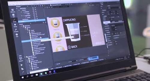Built with Qt: Qt Quick Coffee machine demo, QtWS17