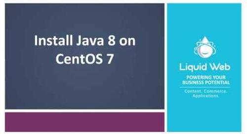 Install Java 8 on CentOS 7